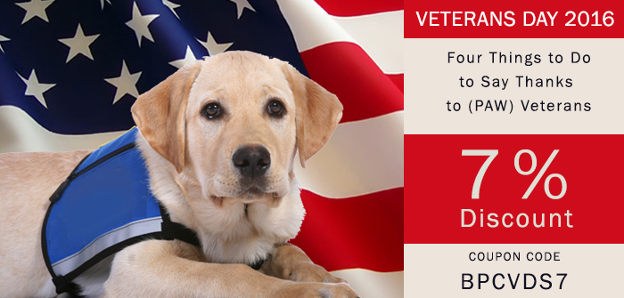 say thanks to pets on veterans day