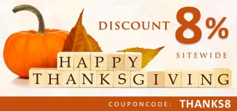 Get Exclusive 8% Discount this Thanksgiving Day on All Pet Supplies