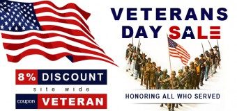Veterans Day Discount Of 8%- A Tribute To Service Dogs From Budget Pet Care!