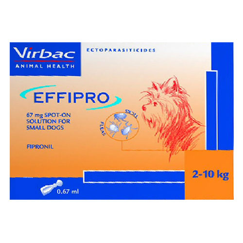 Effipro Spot-On Solution For Small Dogs Up To 22 Lbs. 4 Pack