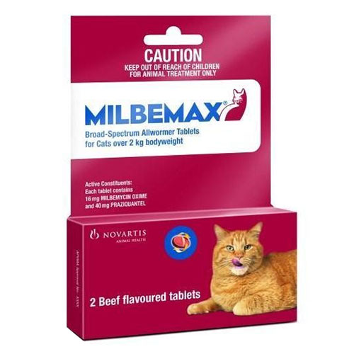Milbemax For Large Cats More Than 4.4-17.6lbs 1 Tablet