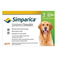 Simparica For Dogs 44.1-88 Lbs Green 3 Pack