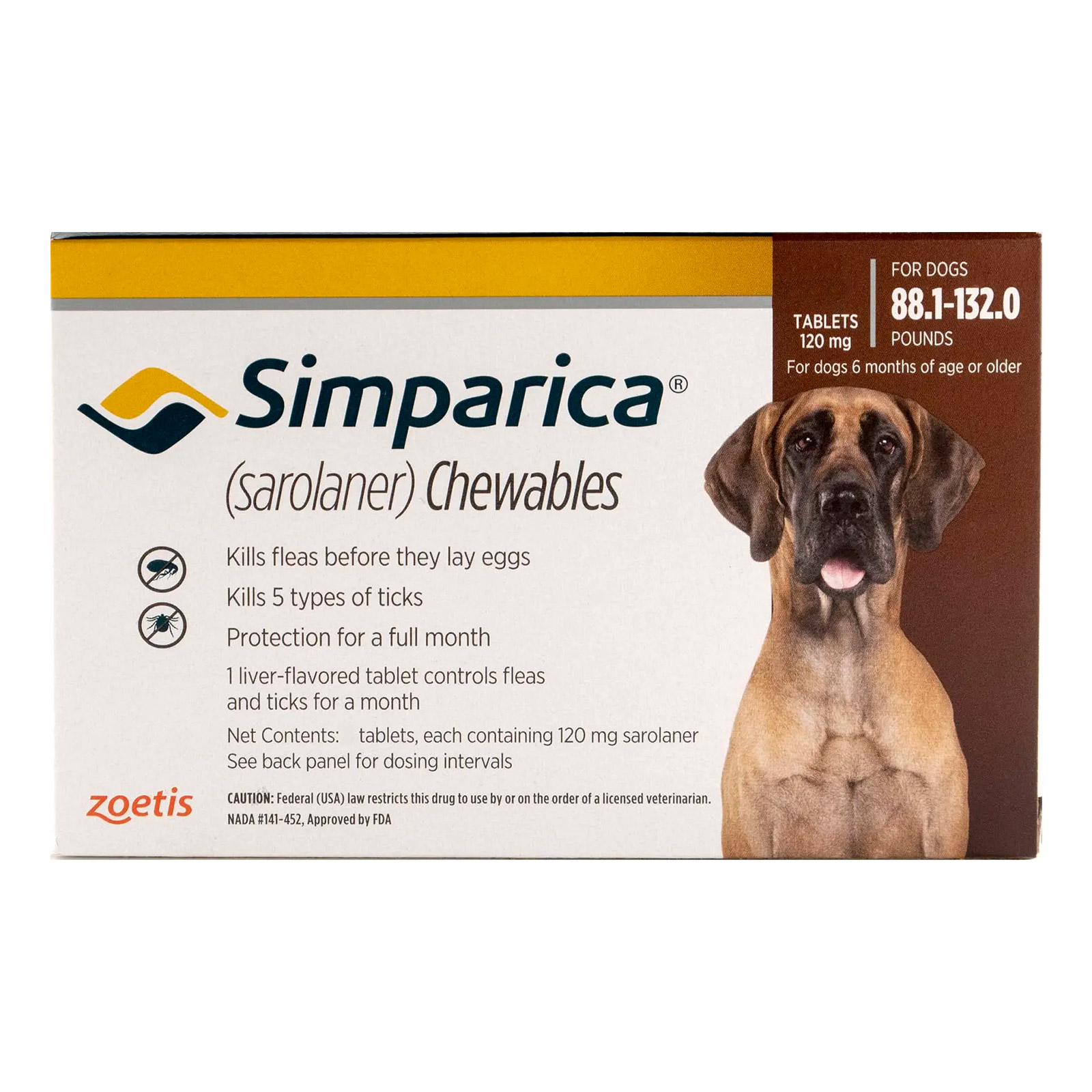 Simparica For Dogs Above 88 Lbs (Red) 6 Doses