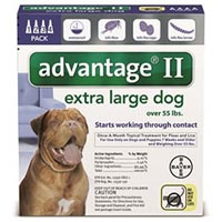 Advantage II Extra Large Dogs over 55 lbs (Blue)