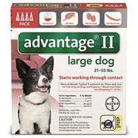 Advantage II Large Dogs 21-55lbs (Red)