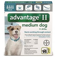 Advantage II Medium Dogs 11-20lbs (Teal)
