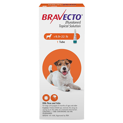 Bravecto topical solution for dogs 9.9 22 lbs