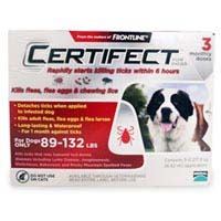 Certifect Extra Large Dogs 89-132 lbs (Red)
