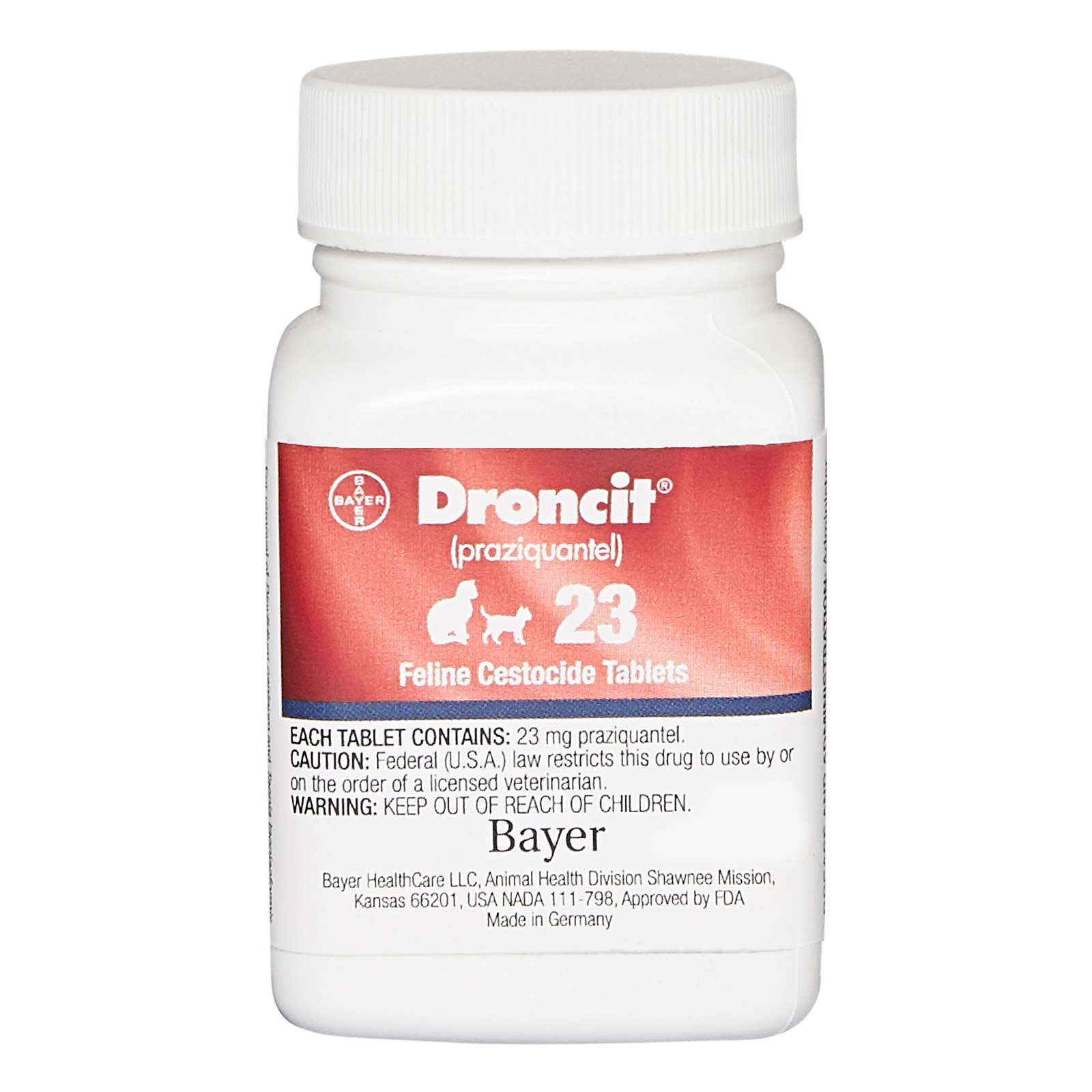 Droncit Tapewormer For Cats 4 Tablet Pet Pest & Medical Supplies
