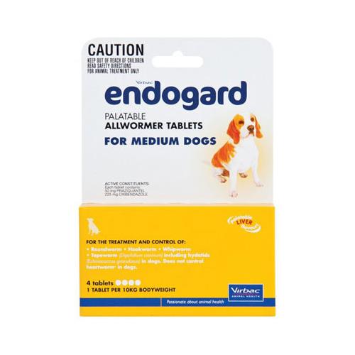 Endogard For Medium Dogs 22lbs 4 Tablet