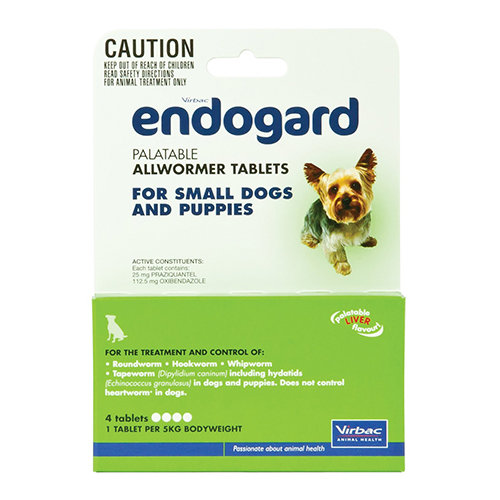 Endogard For Small Dogs 11lbs 4 Tablet