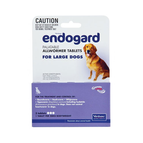 Endogard For Large Dogs 44lbs 2 Tablet
