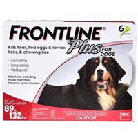 Frontline Plus for Extra Large Dogs over 89 lbs Red