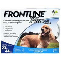 Frontline Plus for Medium Dogs 23-44 lbs Blue