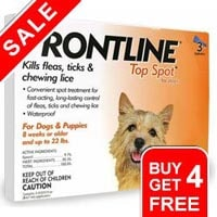 Frontline top spot small dogs 0 22 lbs orange free