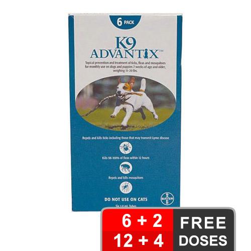 K9 advantix medium dogs 11 20 lbs aqua of
