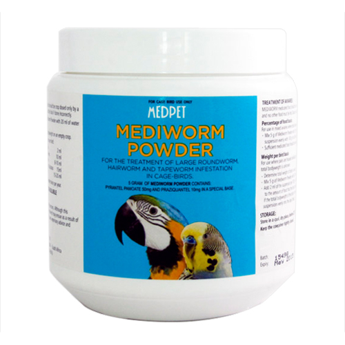 BudgetPetCare.com - Mediworm Powder For Caged Birds 100 Gm 13.74 USD