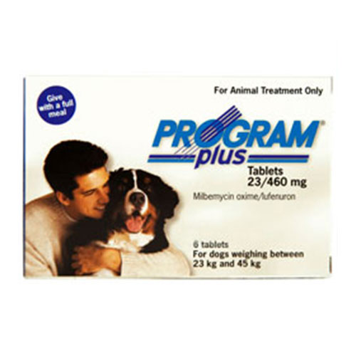 Program Plus For Dogs 46 - 90 Lbs White 6 Tablet