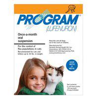 BudgetPetCare.com - Program Oral Suspension Cat 0-10 Lbs Orange 6 Ampules 41.24 USD