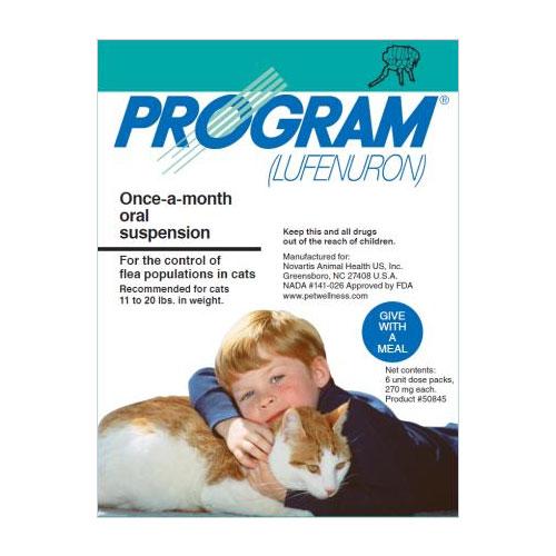 BudgetPetCare.com - Program Oral Suspension Large Cat 11-20 Lbs Teal 6 Ampules 82.50 USD