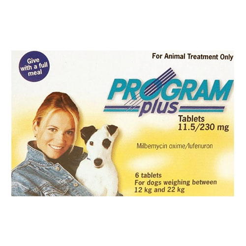 Program Plus For Dogs 21 - 45 Lbs Yellow 12 Tablet