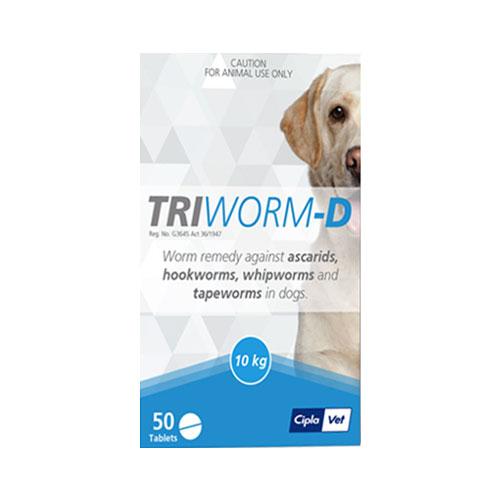 Triworm-D Dewormer For Dogs 2 Tablet