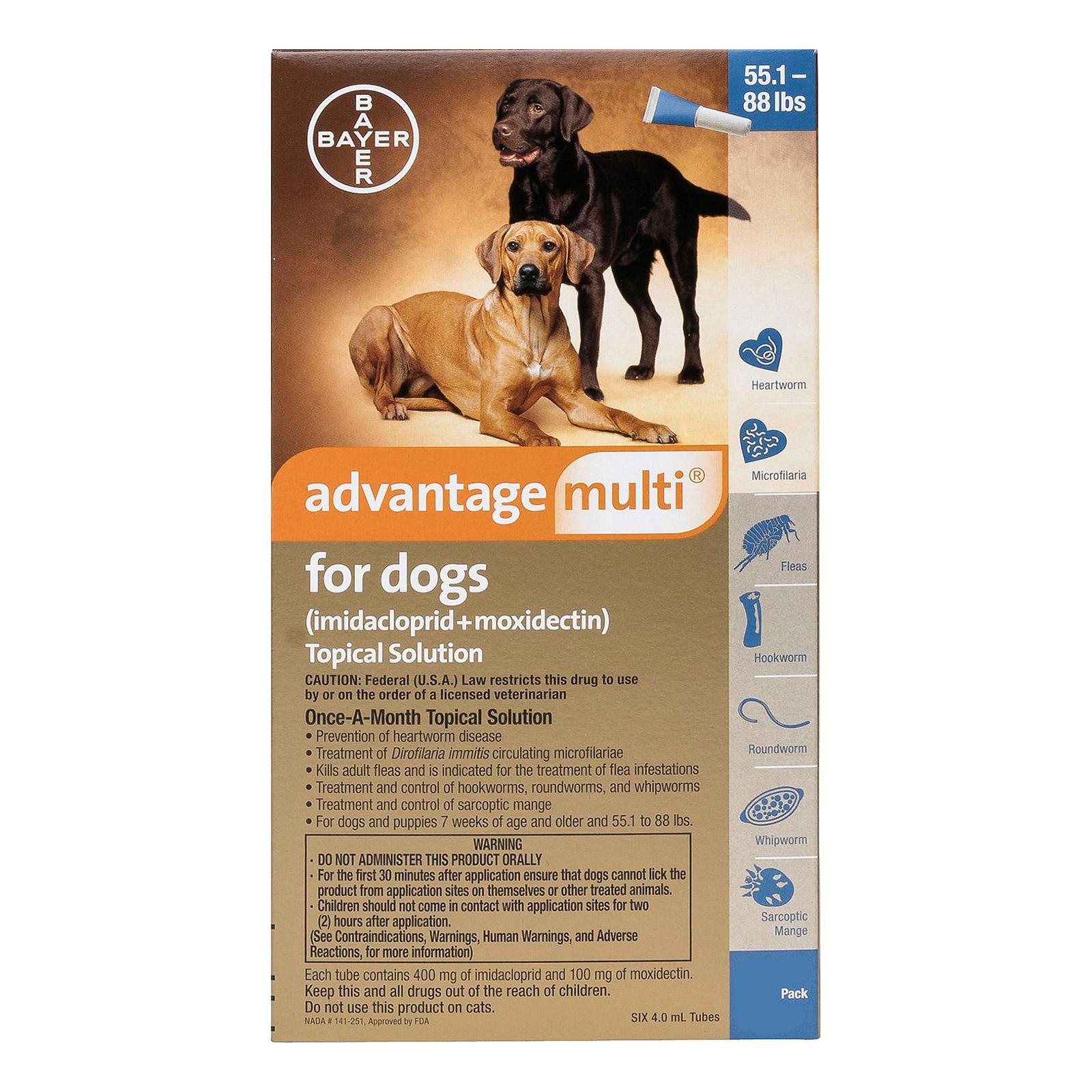 Advantage multi advocate extra large dogs 55 1 88 lbs blue