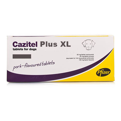 Cazitel Plus Xl Tablets For Dogs 1 Tablet