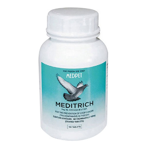 BudgetPetCare.com - Meditrich For Pigeons 100 Tablet 32.12 USD