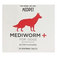Mediworm plus tablets for dogs pack