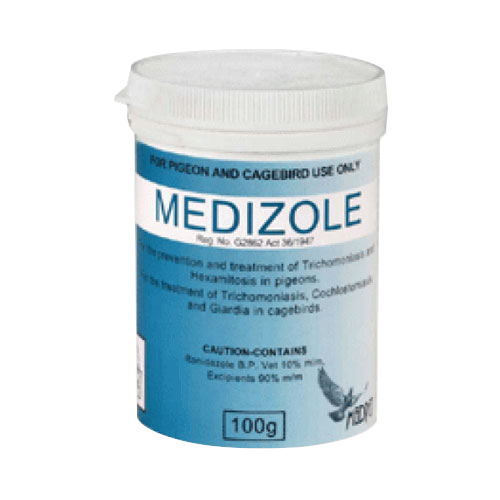 BudgetPetCare.com - Medizole For Pigeons & Caged Birds 100 Gm 36.02 USD