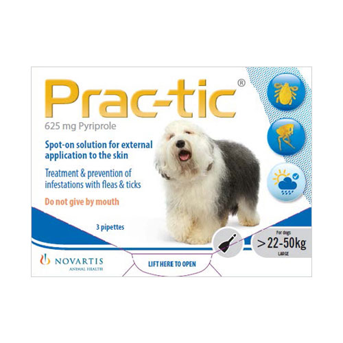 Prac-Tic Spot On For Large Dog: 50-110 Lbs White 6 Pack