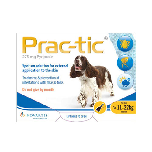 Prac-Tic Spot On For Medium Dog: 25-50 Lbs Yellow 3 Pack