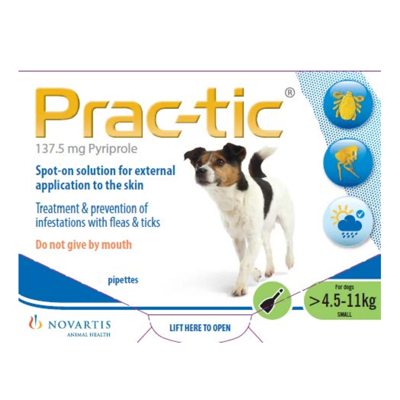 Prac-Tic Spot On For Small Dog: 10-25 Lbs Green 3 Pack