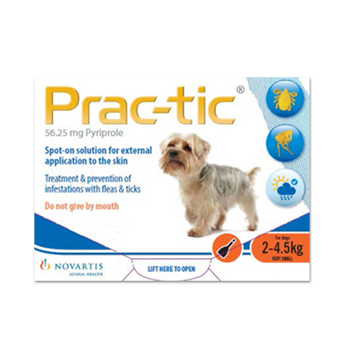Prac-Tic Spot On For Very Small Dog: 4.5-10 Lbs Orange 3 Pack