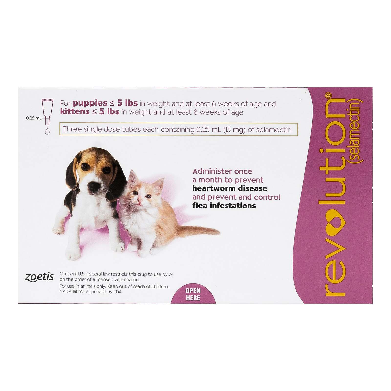 Revolution For Kittens / Puppies Pink 6 Doses