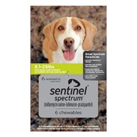 Sentinel Spectrum Green For Dogs 8.1-25 Lbs 3 Chews