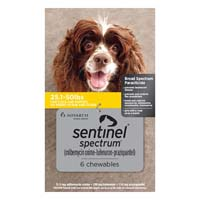Sentinel Spectrum Yellow For Dogs 25.1-50 Lbs 3 Chews