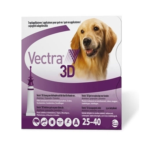 Vectra 3d For Large Dogs 55-88lbs 3 Doses