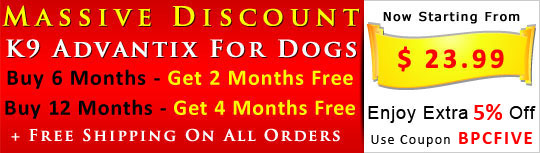 Buy K9 Advantix for dogs 6 Months Sypply & Get 2 Month Absolutely Free