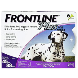 Frontline Plus for large dogs 45lbs to 88lbs purple