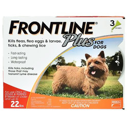 Frontline Plus for small dogs up to 22lbs