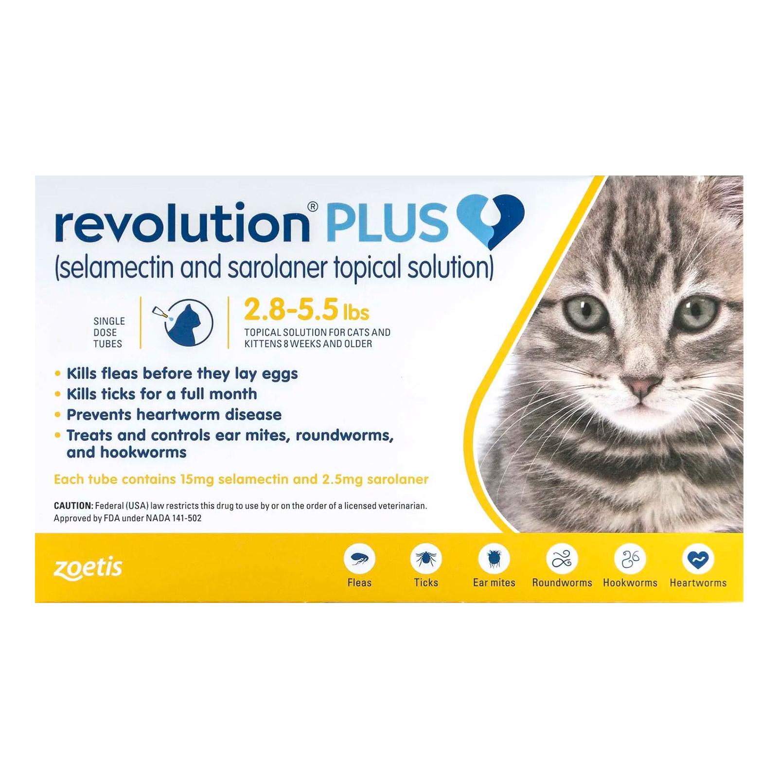 Revolution Plus For Cats Buy Revolution Plus Flea Tick Heartworm Treatment For Cats