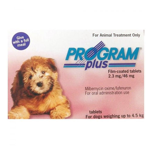 Program Plus Plus for Dogs 1 - 10 lbs (Pink) 12 TABLET