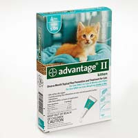 advantage ii for kittens under 5lbs (aqua) 12 months on lovemypets.com