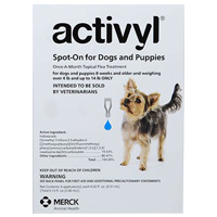 Activyl For Medium Dogs 22 44 lbs Blue 4 PACK