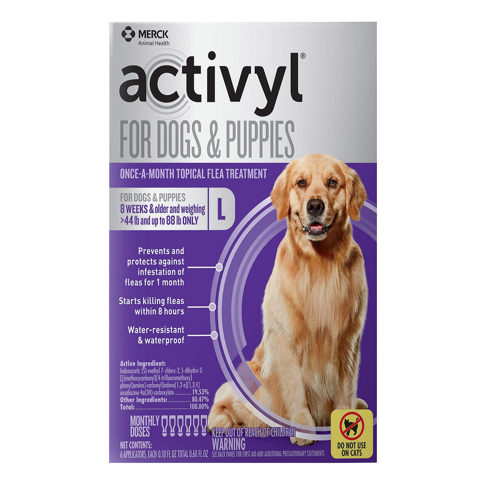 Activyl For Large Dogs 44 88 lbs Purple 4 PACK