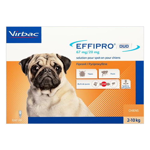 Effipro DUO Spot-On For Small Dogs up to 22 lbs. 12 PACK