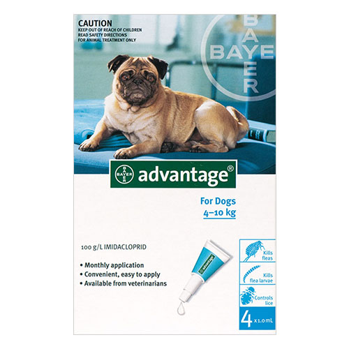 Advantage Medium Dogs 11-20lbs (Aqua) 6 + 2 FREE