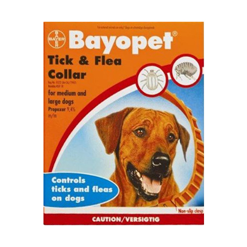 Bayopet Tick and Flea Collar for Medium and Large Dogs 1 PACK